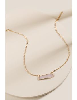 Katherine Semi Precious Stone Pendant Necklace by Francesca's