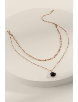 Morgan Semi Precious Layered Necklace by Francesca's
