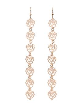 Tiered Filigree Drop Earrings by Forever 21