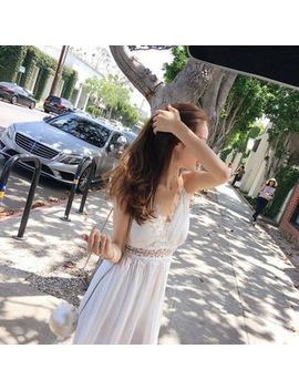 Yuxi   Strappy Lace Trim Maxi Sun Dress / Wide Leg Jumpsuit by Yuxi