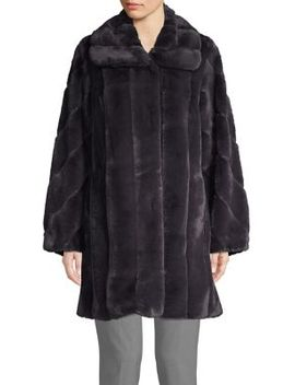Faux Fur Quilted Coat by Jones New York