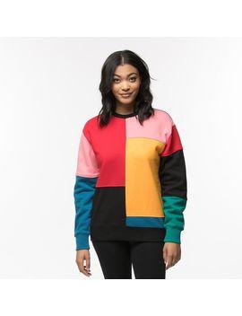 Womens Vans Patchy Crew Sweatshirt by