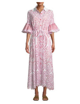 Valerie Cotton Lace Shirtdress by Evi Grintela