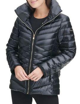 Short Down Grosgrain Trimmed Jacket by Karl Lagerfeld Paris