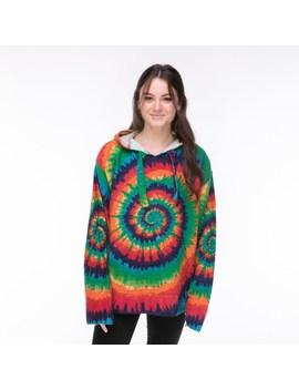 Women's Tie Dye Baja Poncho by