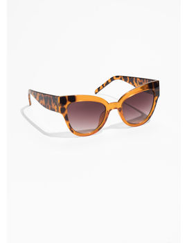 Tortoise Cat Eye Sunglasses by & Other Stories