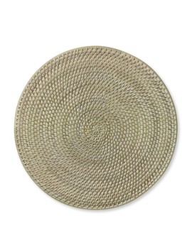 White Wash Woven Hapao Round Place Mat by Williams   Sonoma