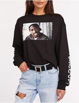 Tupac Poetic Justice Crop Tee by Charlotte Russe
