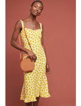 Faithfull Sunflower Midi Dress by Faithfull