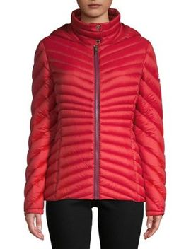 Chevron Quilted Packable Coat by Tommy Hilfiger