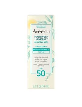 Aveeno Positively Sensitive Skin Mineral Sunscreen   Spf 50   2oz by Aveeno