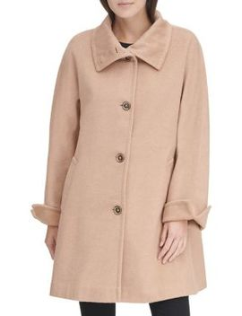 Classic Stand Collar Coat by Karl Lagerfeld Paris