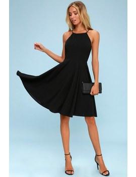Irresistible Charm Black Midi Dress by Lulus