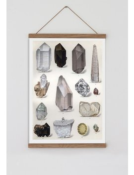 Vintage Crystal Illustration, Boho Wall Decor, Crystal Art, Quartz Crystal Watercolour Print, Bohemian Wall Art, Minimalist Wall Art, by Etsy