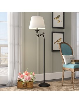 "Chaumont 60"" Swing Arm Floor Lamp by Lark Manor"