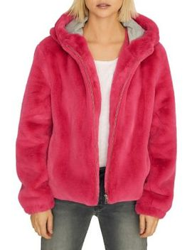 Luv The Nightlife Faux Fur Hoodie by Sanctuary