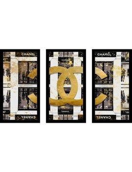 "By Jodi ""Shop In Black"" Framed Plexiglass Wall Art Set Of 3 by Picture Perfect International"