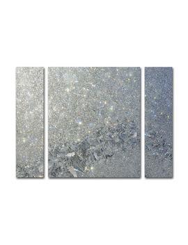 Kurt Shaffer 'frost Pattern Sun Stars' Three Panel Set Canvas Wall Art by Trademark Fine Art