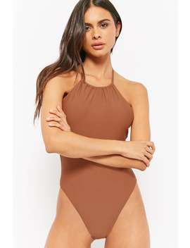 Halter One Piece Swimsuit by Forever 21