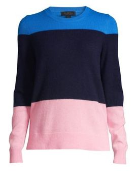 Collection Color Block Cashmere Sweater by Saks Fifth Avenue