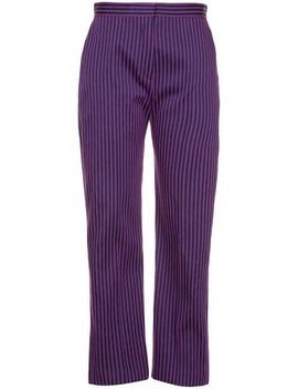 Striped Straight Leg Trousers by Maison Rabih Kayrouz