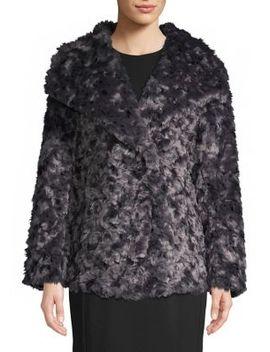 Roslyn Reversible Faux Fur Coat by Tahari