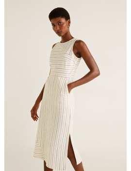 Vestido Riscas Combinado by Mango