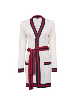Cream Stripe Tipped Cardigan by Dorothy Perkins