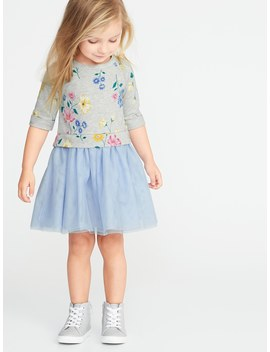 2 In 1 Sweatshirt Tutu Dress For Toddler Girls by Old Navy