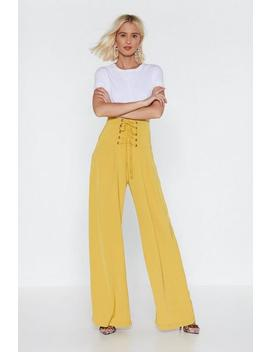 Call It A Tie Wide Leg Pants by Nasty Gal