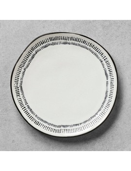 Salad Plate Embossed Black / White   Hearth & Hand™ With Magnolia by Shop Collections