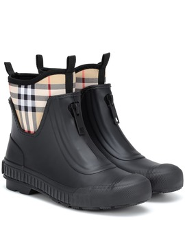Checked Rubber Boots by Burberry