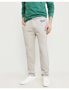 Embroidered Logo Classic Sweatpants by Abercrombie & Fitch