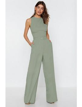 Wide Leg High Waisted Pants by Nasty Gal