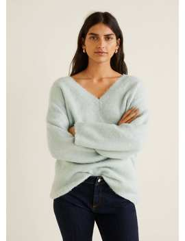 Oversize Texture Sweater by Mango