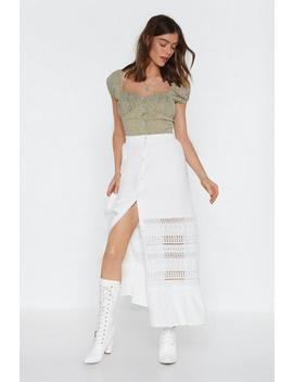 Let's Head Back To Lace Maxi Skirt by Nasty Gal