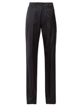 High Rise Striped Trousers by Balenciaga