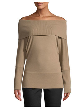 Off The Shoulder Wool Long Sleeve Top by Lafayette 148 New York