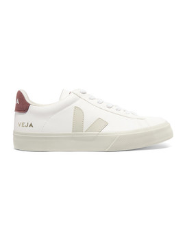 Campo Rubber And Vegan Suede Trimmed Leather Sneakers by Veja