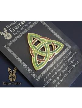 Triquetra Hard Enamel Pin / Limited Edition Pin / Lapel Pin / Celtic Knot Pin/ Trinity Knot Pin /  Triple Goddess / Holy Trinity / Valknut by Etsy