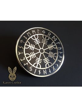 Aegishjalmur Enamel Pin / Limited Edition Pin / Lapel Pin / Helm Of Awe Pin / Viking Knot Badge / Viking Art / Elder Futhark Runes / Celtic by Etsy