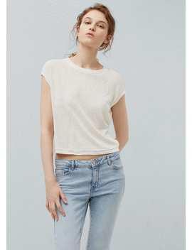 Crop T Shirt by Mango