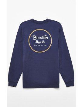 Brixton Wheeler Ii Long Sleeve T Shirt by Pacsun