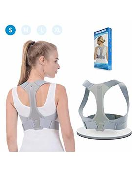 Posture Corrector Back Support Brace For Women Men Comfortable Upper Back Brace Clavicle Support Device For Thoracic Kyphosis And Shoulder Neck Pain Relief S by Anoopsyche
