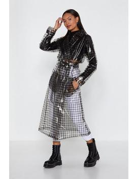 Check Clear Trench Coat by Nasty Gal