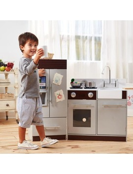 Teamson Kids Urban Luxury Play Kitchen, Grey/Espresso by Teamson