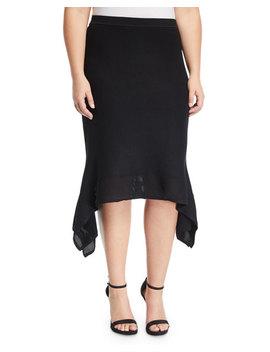 Katelyn Handkerchief Midi Skirt, Plus Size by Rachel Rachel Roy Plus