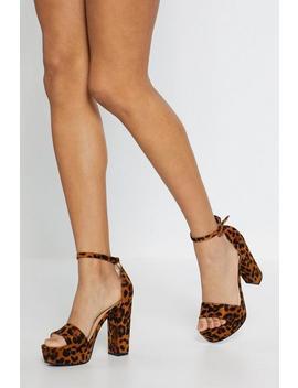 Leopard Print Platform Heels by Nasty Gal