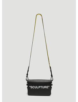 Sculpture Mini Flap Shoulder Bag In Black by Off White
