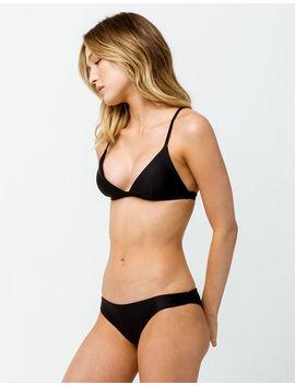 Full Tilt Black Super Cheeky Bikini Bottoms by Full Tilt